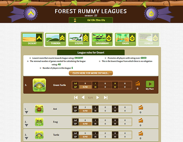 Third in game image of Forest Rummy card game